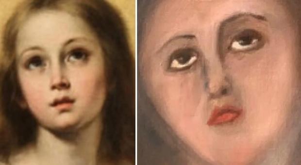 Fa ripulire il dipinto della Vergine Maria di Murillo: il risultato è un disastro