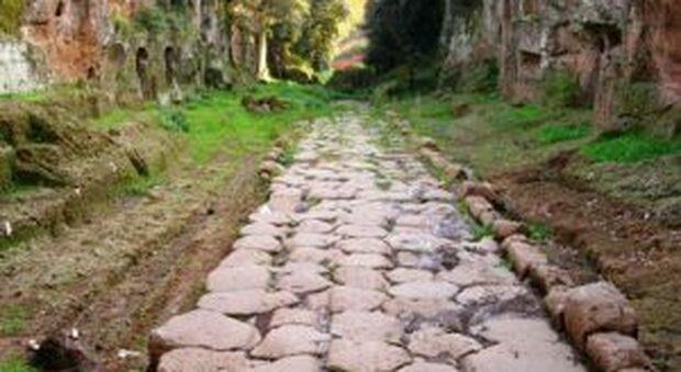Il tratto della antica Via Francigena a Campagnano