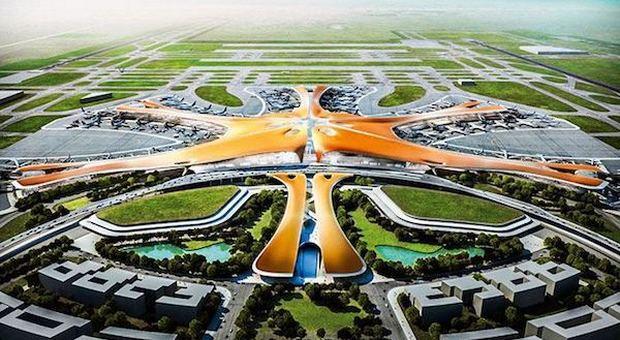 Pechino, apre l aeroporto più grande del mondo firmato Zaha Hadid