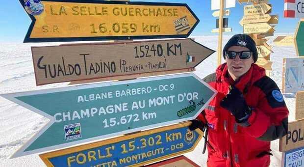 Il dottor Francesco Sepioni in Antartide