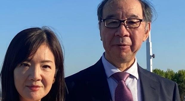 Il Capo Missione del Giappone Hiroshi Oe con la consorte