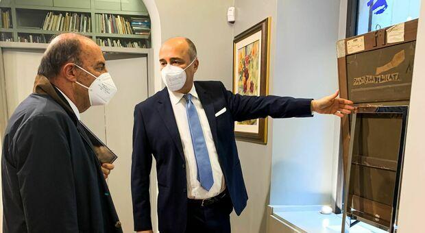 Bruno Vespa con Fabrizio Russo