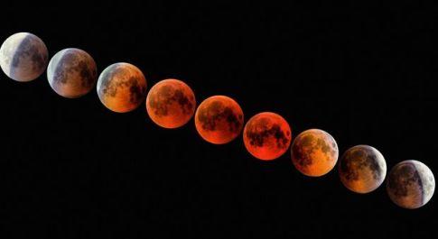 Nell'immagine una eclissi di Luna ripresa dall'astrofilo brindisino Giuseppe Donatiello