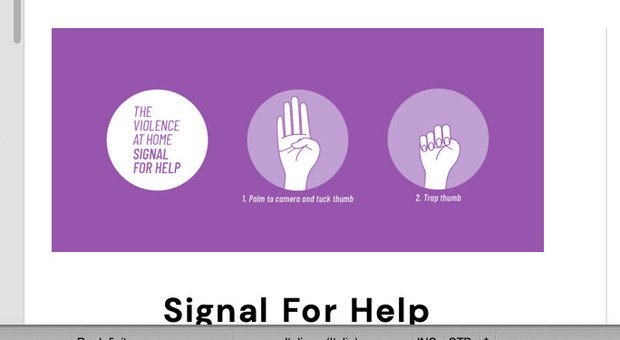 Nasce segnale internazionale, così è possibile comunicare la violenza domestica in corso