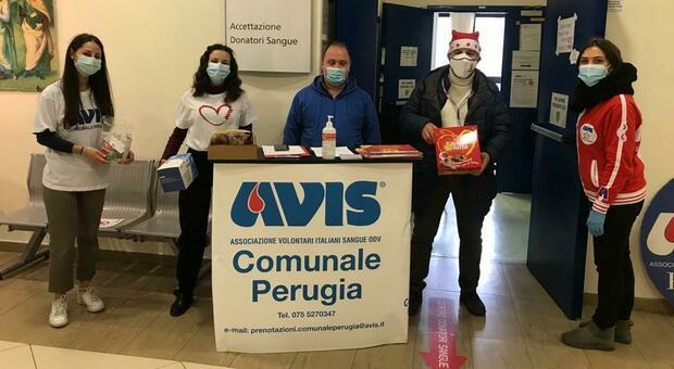 L'accettazione del punto di donazione sangue all'ospedale di Perugia