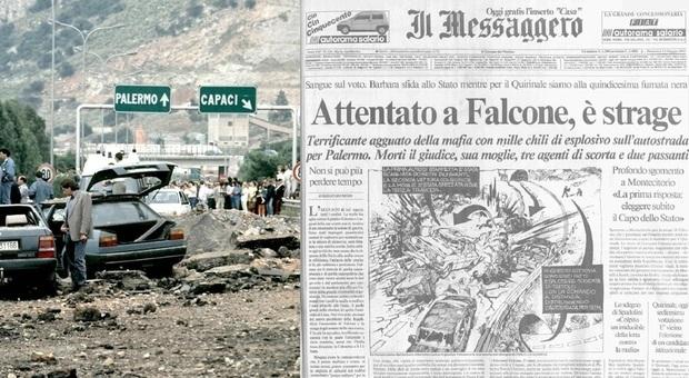 Strage di Capaci, Mattarella: «Falcone e Borsellino luci nelle tenebre». Conte: «Il piano delle mafie fallirà»