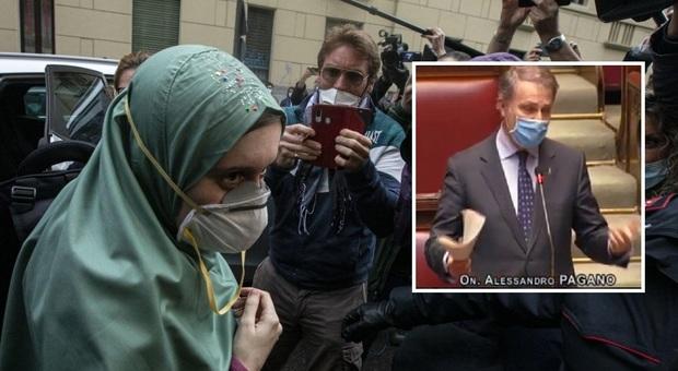 «Silvia Romano neoterrorista». Bagarre per la frase del leghista Pagano alla Camera
