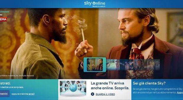 L'interfaccia di Sky Online