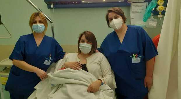Giulia, llaa mamma della prima bimba nata a Perugia nel 2021