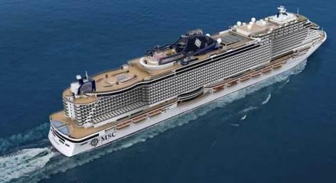 La Seashore, nuova ammiraglia della flotta MSC costruita da Fincantieri