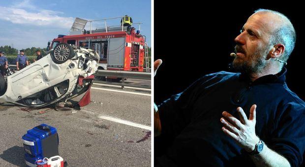 Marco Paolini, morta la donna travolta sull'A4 dall'attore