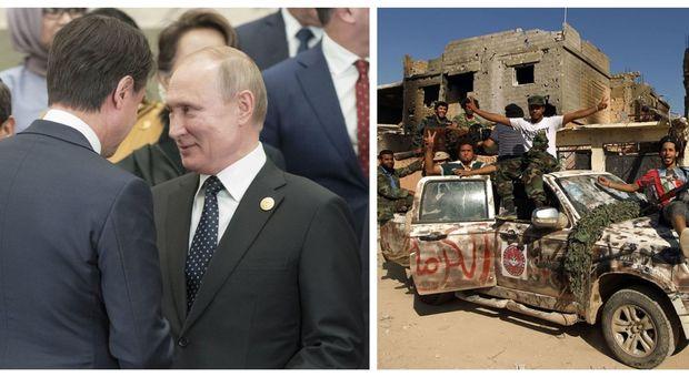 Libia, Conte a Putin: lavoriamo insieme a una soluzione