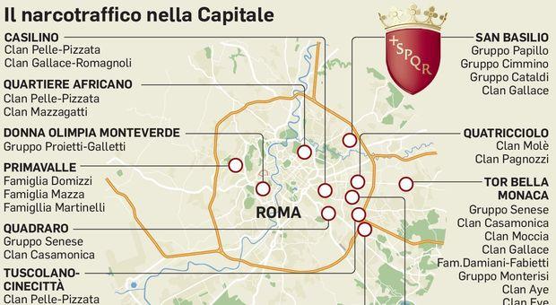 Da San Basilio a Ostia emergenza spaccio: la mappa delle piazze
