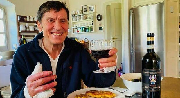 Gianni Morandi torna a casa dall'ospedale: «Non bevevo un bicchiere di vino da un mese. A voi»