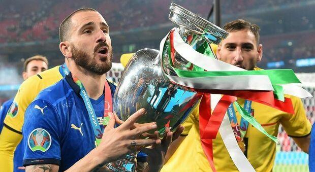 Leonardo Bonucci con la Coppa