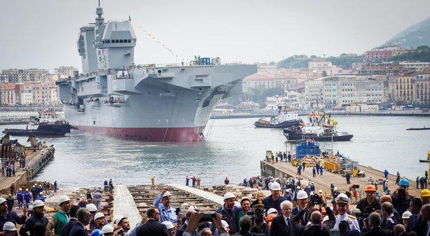 Nave Trieste, varata l'ammiraglia della Marina militare: elicotteri e missili nel sistema di combattimento