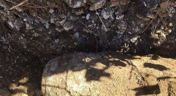 A Montasola trovata bomba di aereo inesplosa, zona di campagna recintata. Si attendono gli artificieri