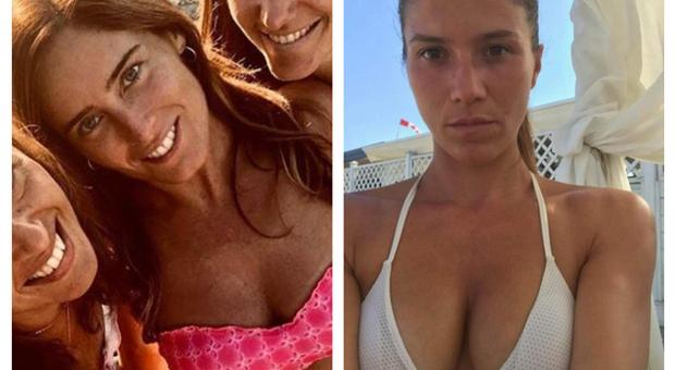 Foto Boschi, Adinolfi le risponde con il selfie della moglie: è sfida tra sexy bikini