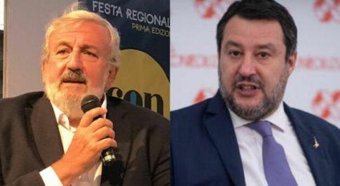 Emiliano strizza l'occhio a Salvini: «Idee diverse, ma apprezzo il tuo sforzo»