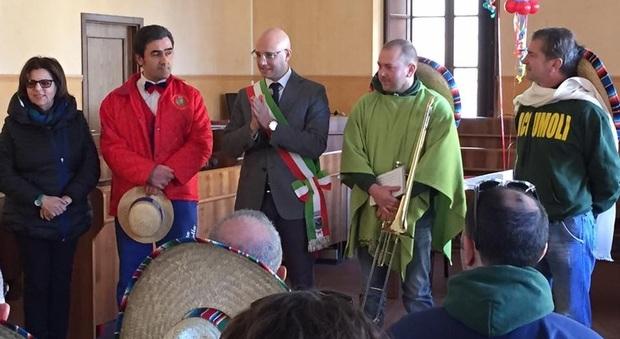 Banda musicale di Accumoli al carnevale di Civita Castellana