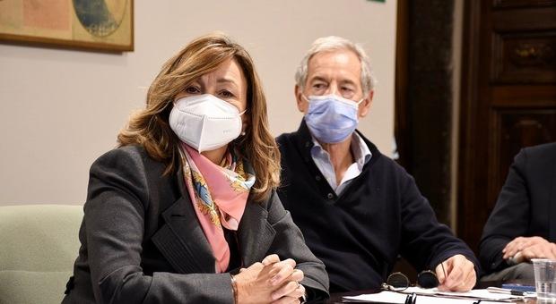 La presidente Donatella Tesei e Guido Betrolaso