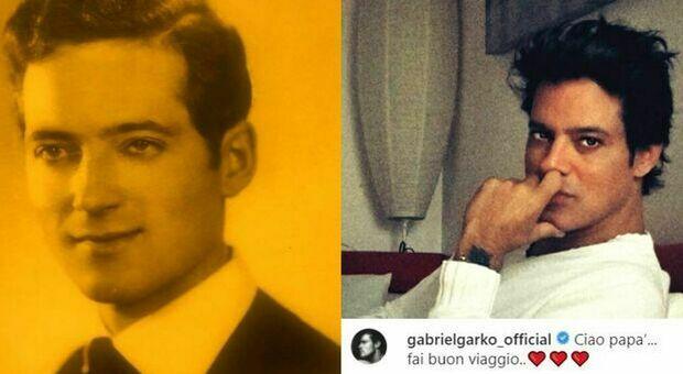 Gabriel Garko, morto il papà. Il post dell'attore: «Ciao, fai buon viaggio»