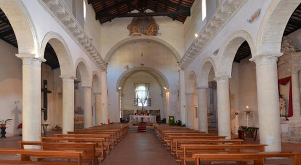 Sutri. la chiesa romanica di San Francesco