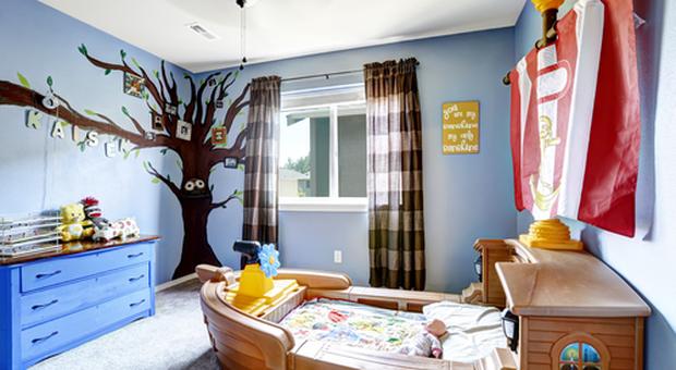 L\'arredamento per la camera dei bambini