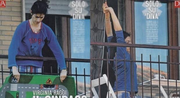 Virginia Raggi fa grandi pulizie: il sindaco in pigiama sul balcone ...