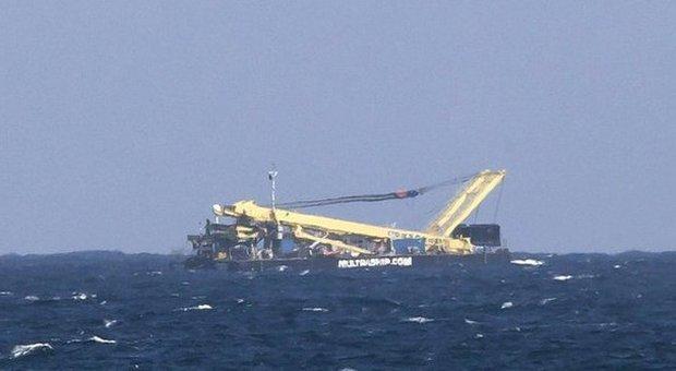 La nave scambiata per un aereo precipitato alle Canarie