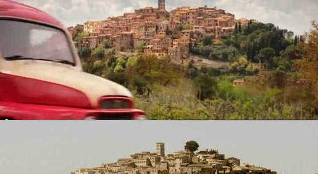 Le due versioni del panorama asprese a confronto