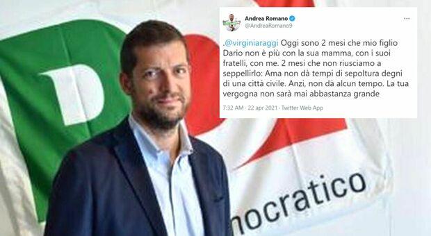 Deputato Pd Romano, morto il figlio 24enne : «2 mesi che non riesco a seppellirlo. Raggi si vergogni»