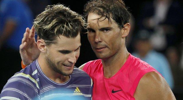 Nadal eliminato agli Australian Open: Thiem lo batte in 4 set (4h14') e vola in semifinale
