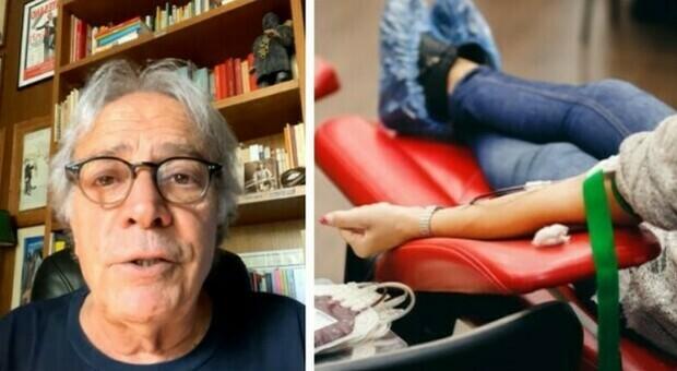 Covid, Enrico Montesano: «Il sangue degli immunizzati viene buttato via». Scoppia la bufera e l'Avis smentisce