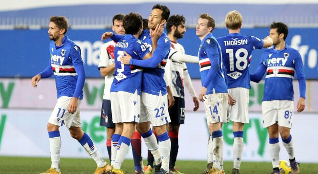 La Sampdoria cala il tris e fa il bis di vittorie. Il Crotone resta ultimo
