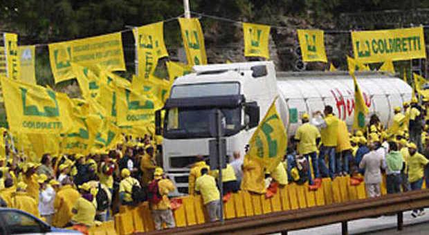 Coldiretti, protesta al Brennero