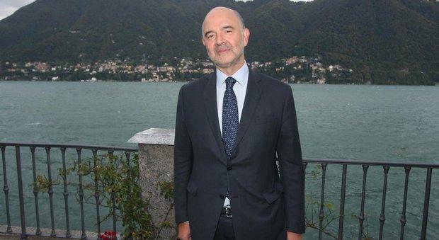 Pierre Moscovici, commissario europeo per gli Affari Economici, a Cernobbio