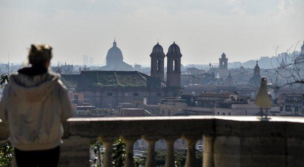 La coltre di smog su Roma