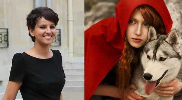 Najat Vallaud-Belkacem e Cappuccetto Rosso