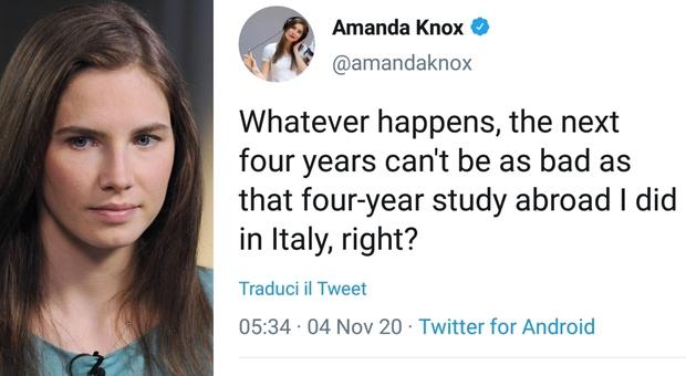 Elezioni Usa 2020, Amanda Knox: «Qualsiasi cosa accada non sarà peggio dei miei 4 anni in Italia». Bufera social