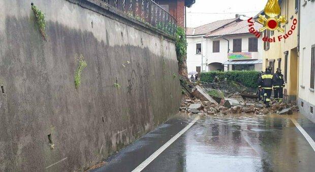 Maltempo, evacuato un hotel a Varese