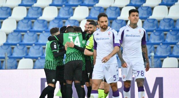 Ottima Fiorentina per un'ora, poi i due rigori per il Sassuolo (3-1 per gli emiliani). Dragowski non voleva andare in porta