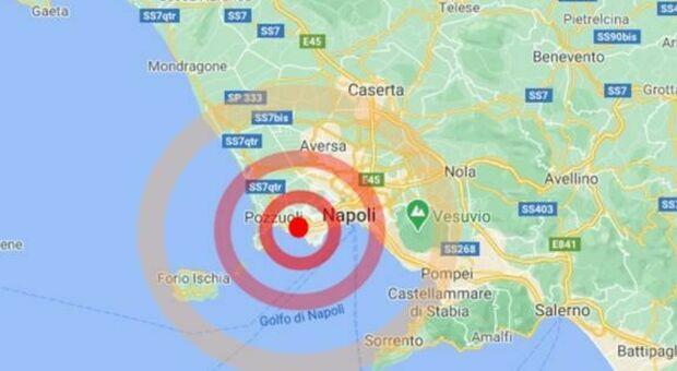 Terremoto a Pozzuoli di 2.7 avvertito a Napoli e ai Campi Flegrei. «Udito un boato»