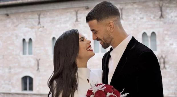 Mirian Sette a Leonardo Spinazzola subito dopo il sì in Comune a Foligno