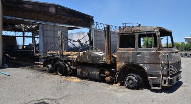 L'incendio a Tarquinia del 2014