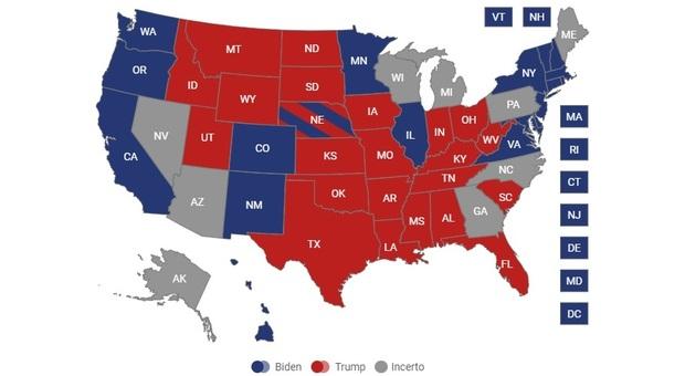 Elezioni Usa 2020 in bilico per il voto postale. Trump: «Ho vinto, frode in atto». Biden: strada giusta verso il successo