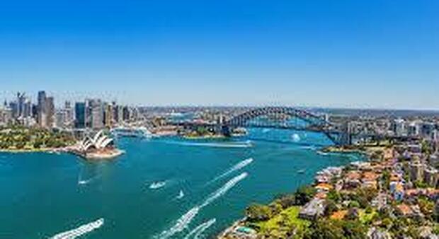 La baia di Sidney in Australia, in una insenatura dell'oceano