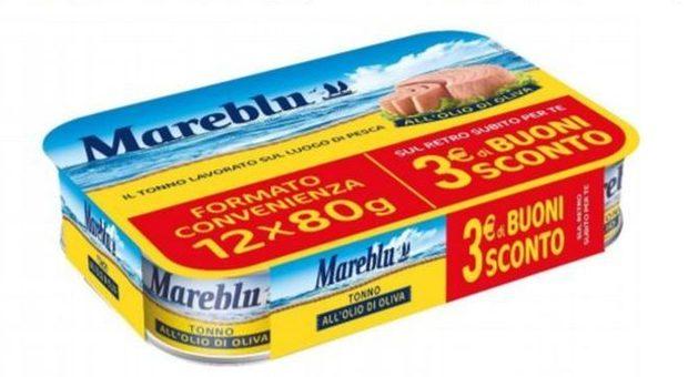 Mareblu richiama tonno in olio d'oliva da i supermercati Il Gigante