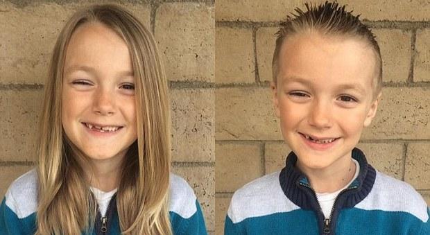 Si taglia i capelli per donarli