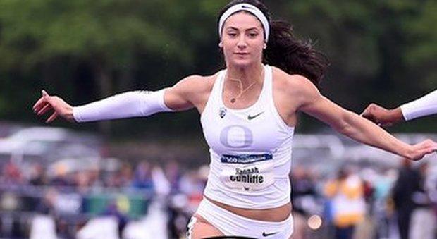 Hannah Cunliffe, la sprinter americana che pu vestire l'azzurro: corre i 100 in 10 99